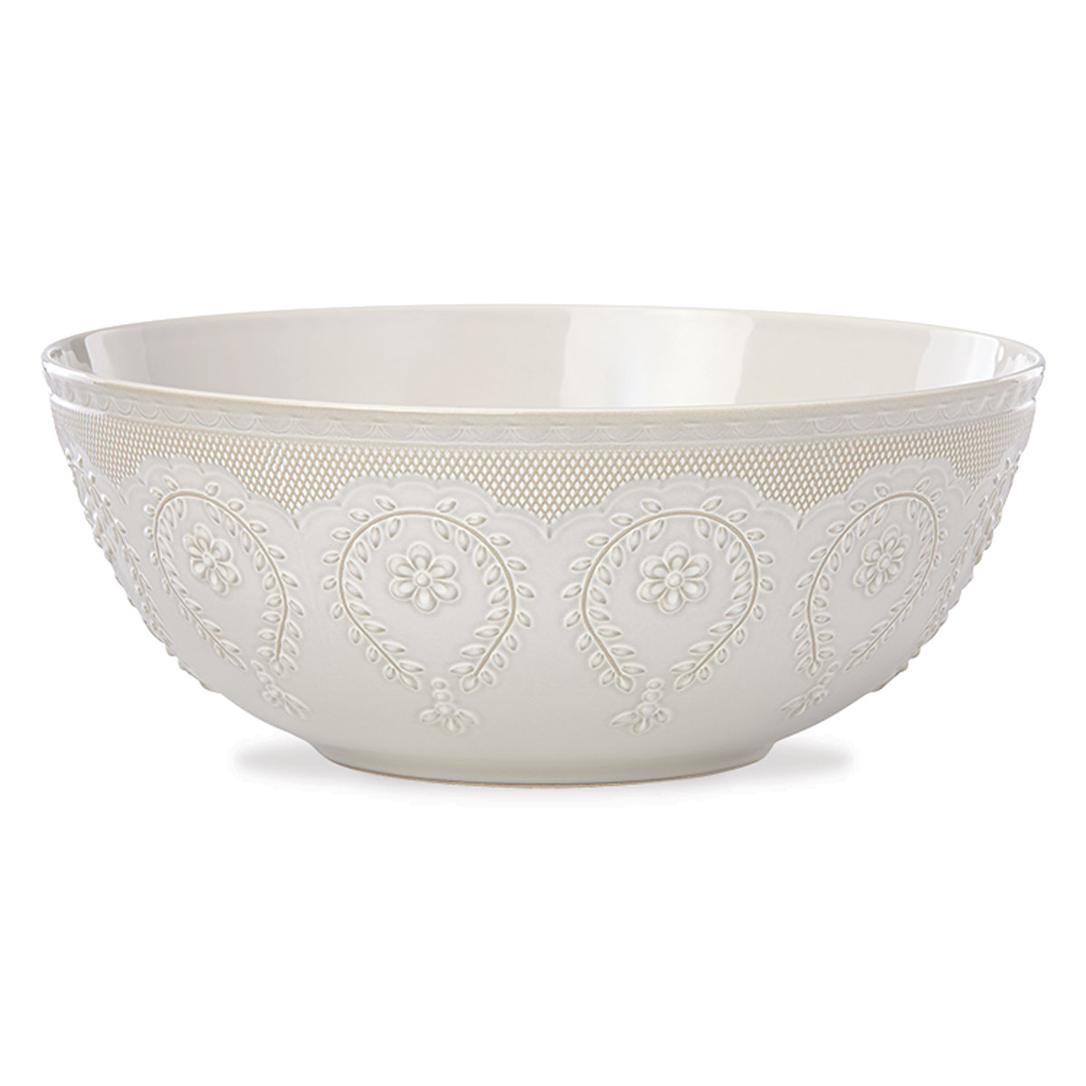 Lenox Chelse Muse Dinnerware Grey Serving Bowl
