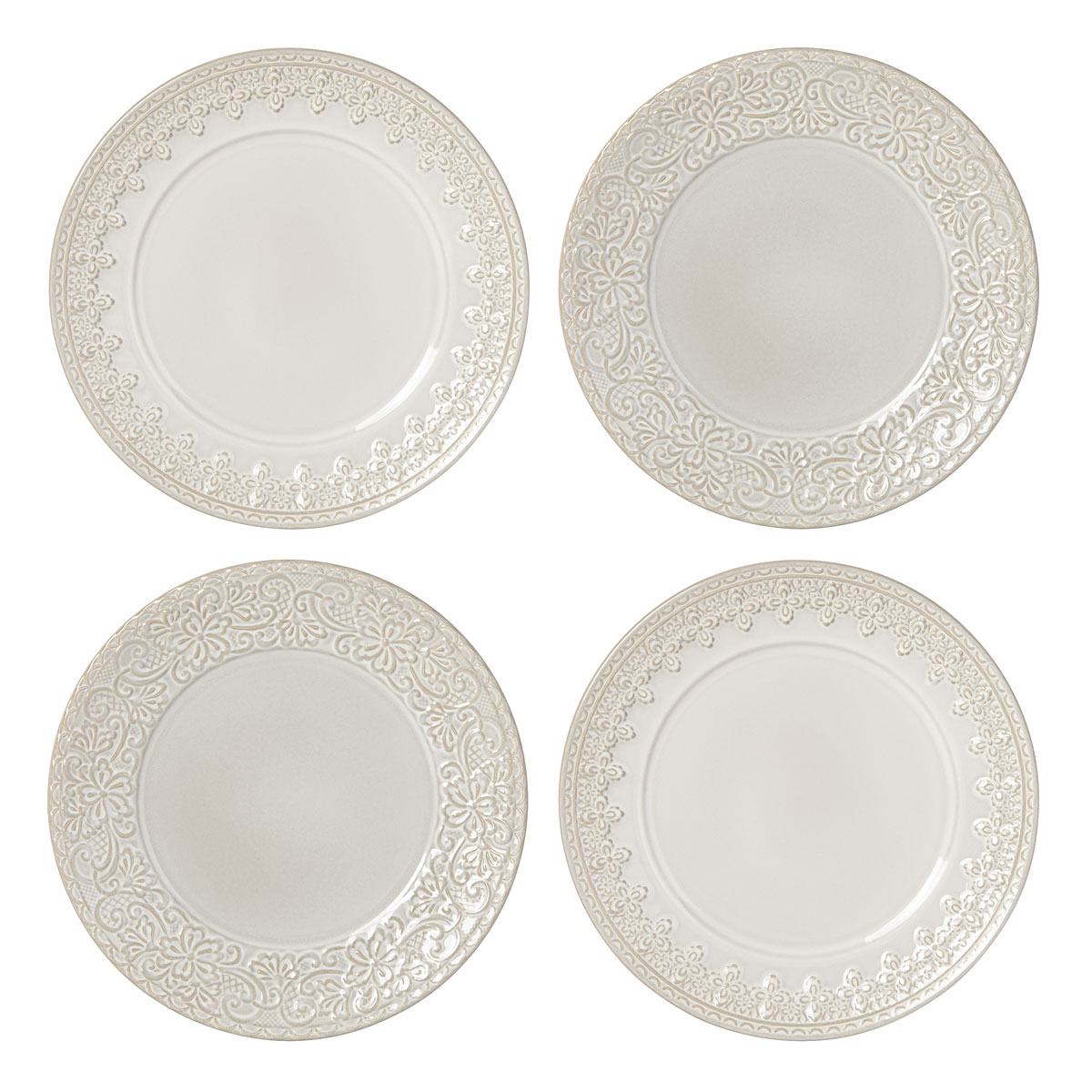Lenox Chelse Muse Dinnerware Grey Tidbits Set Of Four