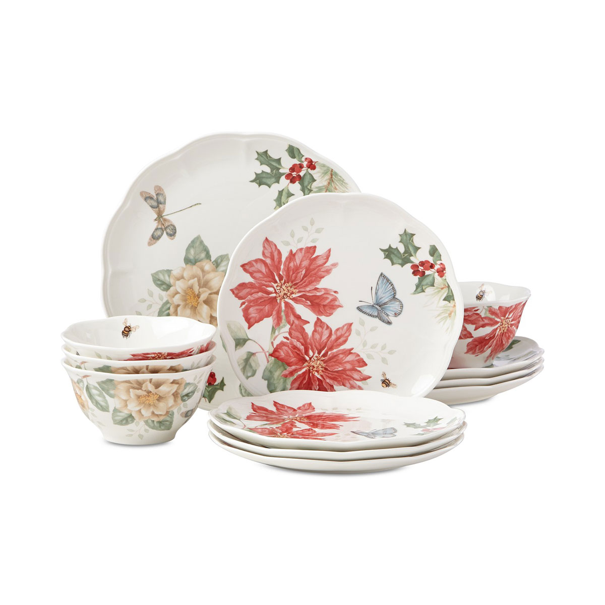 Lenox Butterfly Meadow Holiday 12 Piece Set