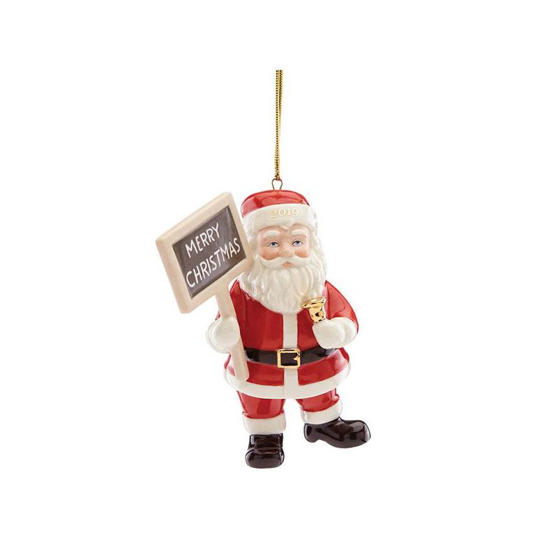 Lenox 2019 Merry Christmas Santa Ornament
