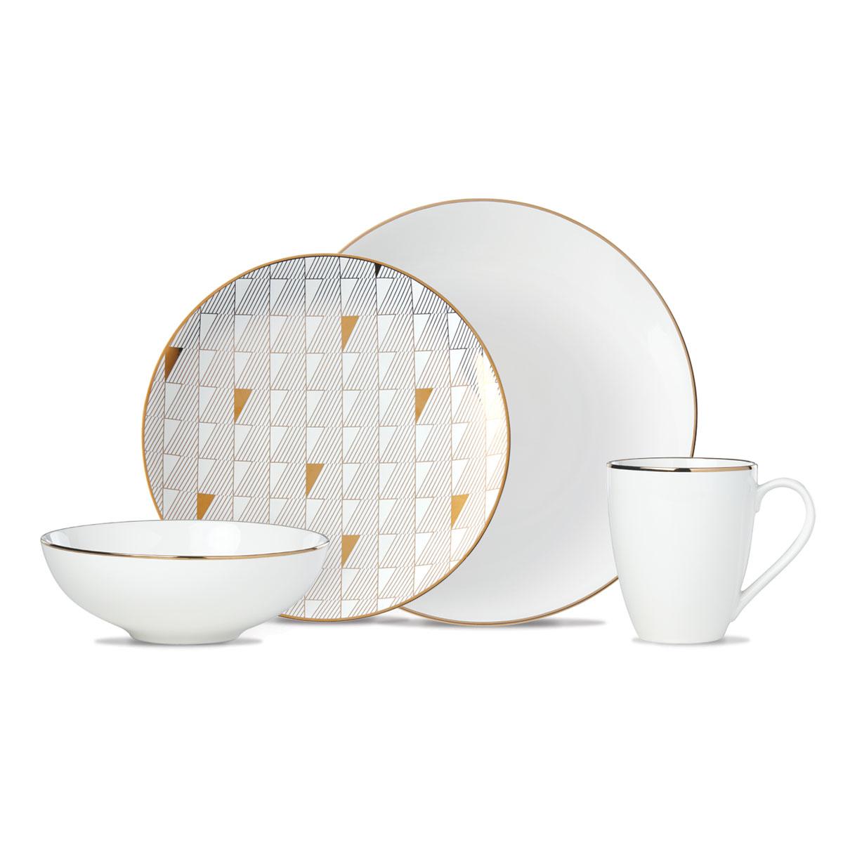 Lenox Trianna White Dinnerware 4 Piece Place Setting