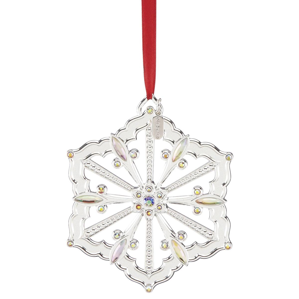 Lenox 2019 Silver Snow Majesty Ornament