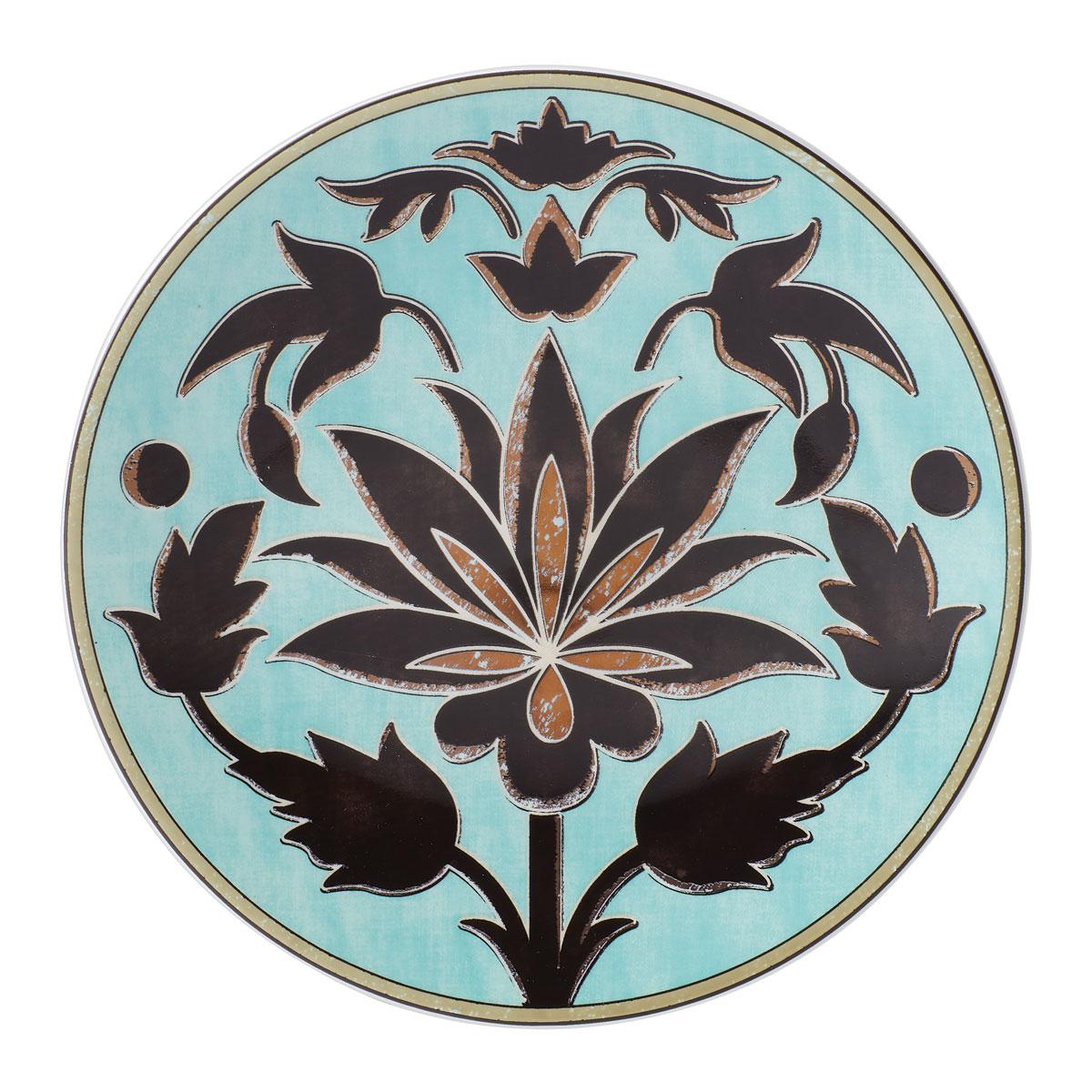 Lenox Global Tapestry Aquamarine Lotus Dinnerware Accent Plate