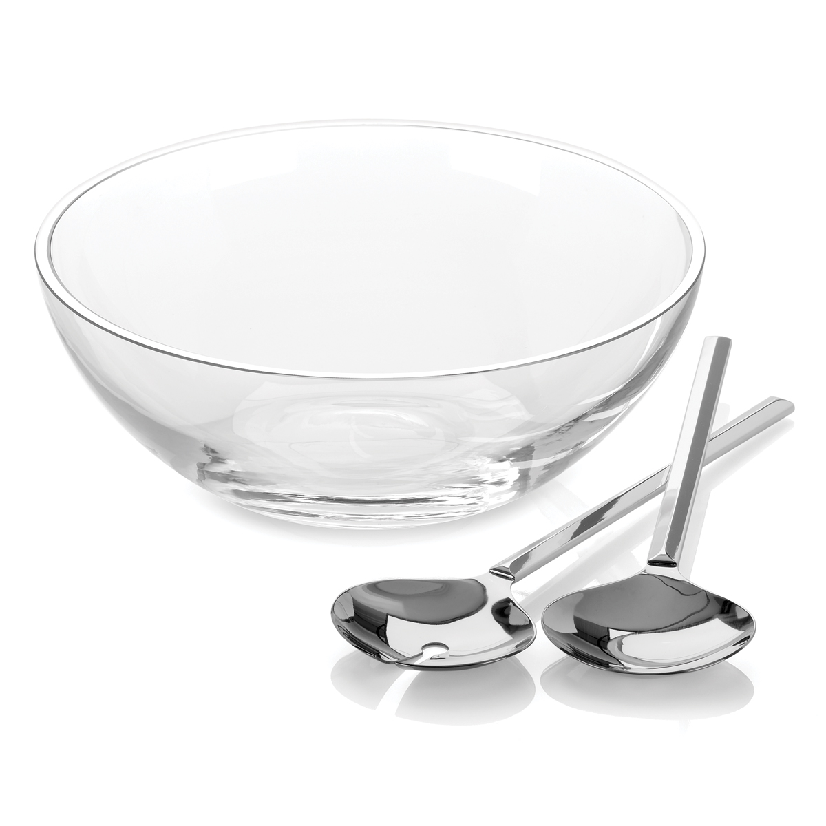 Kate Spade New York, Lenox Gramercy Salad Bowl Set with Metal Servers