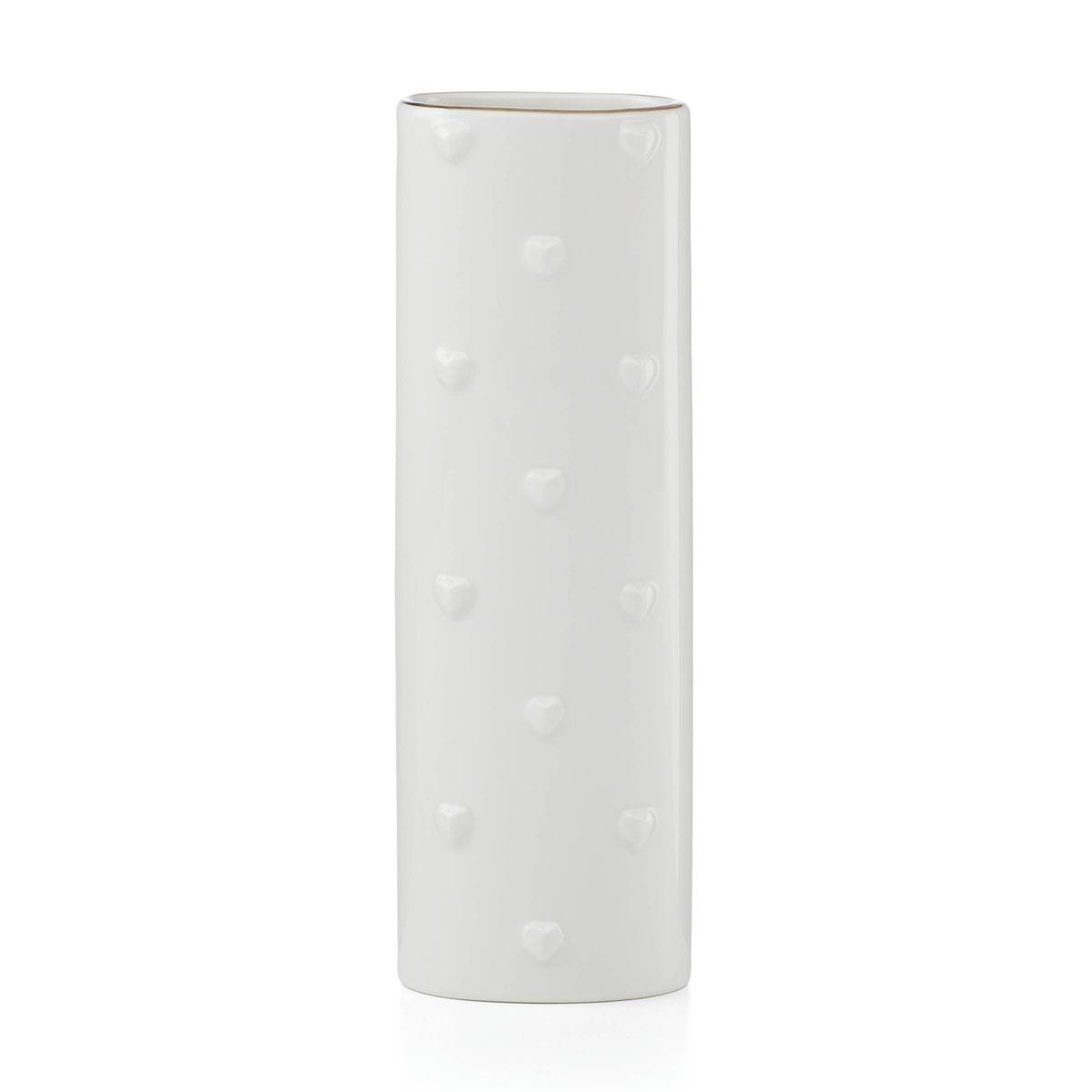 Kate Spade China by Lenox, Heart to Heart Porcelain Bud Oval Vase