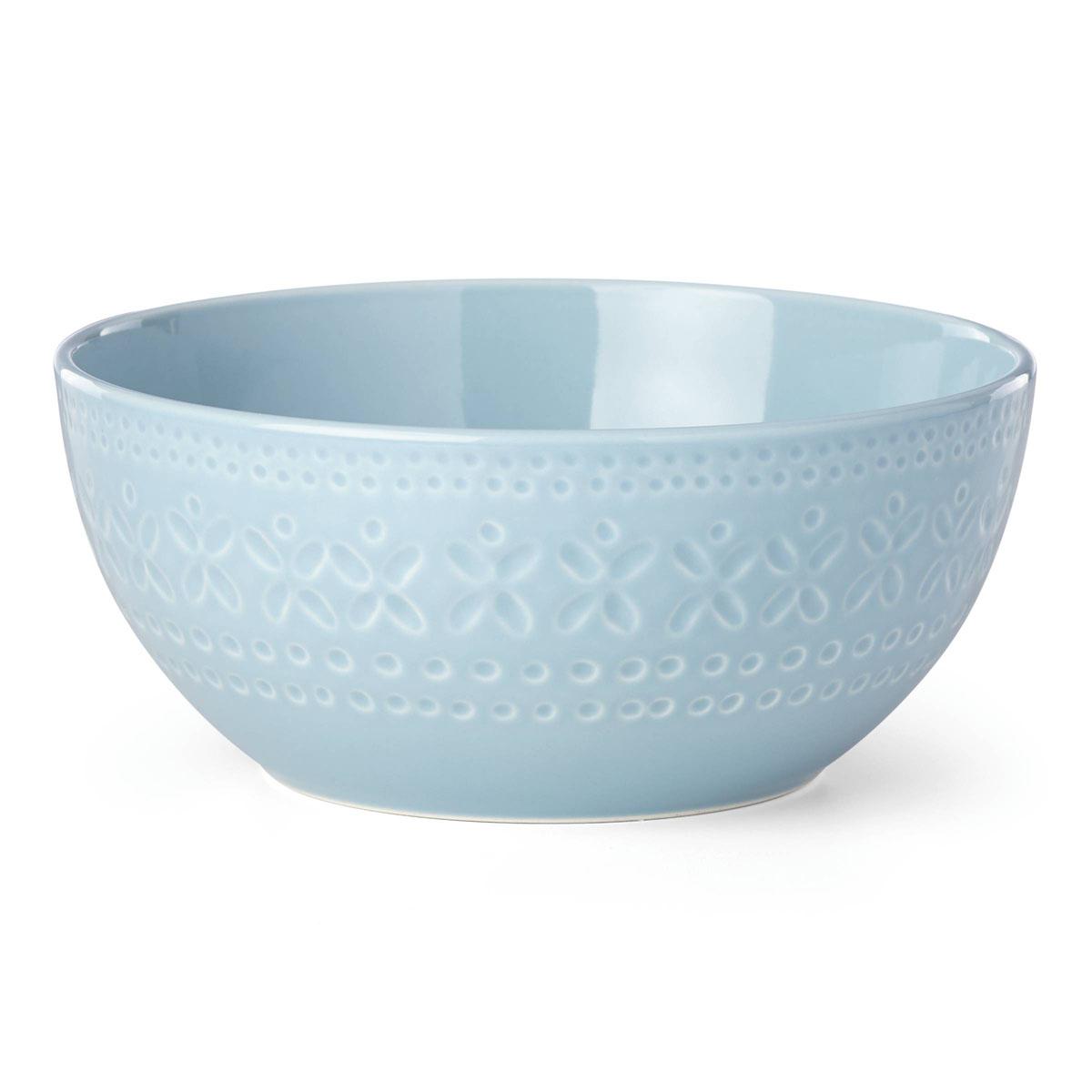 kate spade new york Lenox Stoneware Willow Drive Blue Serve Bowl
