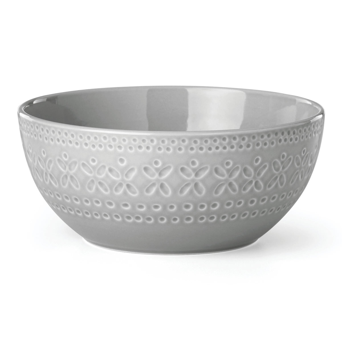kate spade new york Lenox Stoneware Willow Drive Grey Serve Bowl