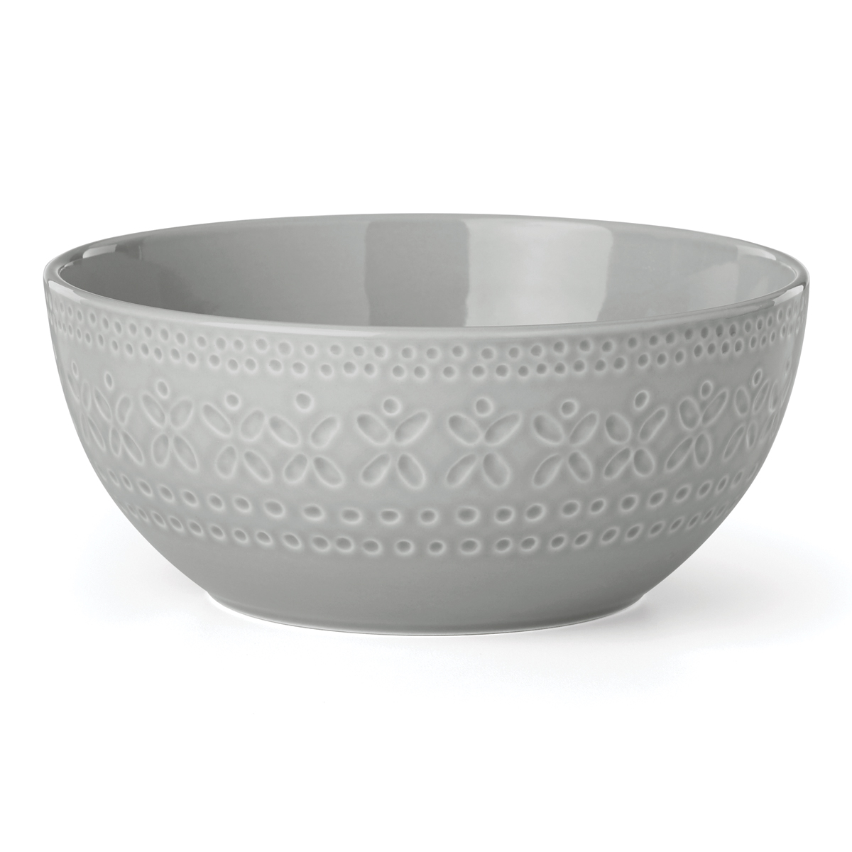 Kate Spade China by Lenox, Stoneware Willow Drive Grey Serve Bowl