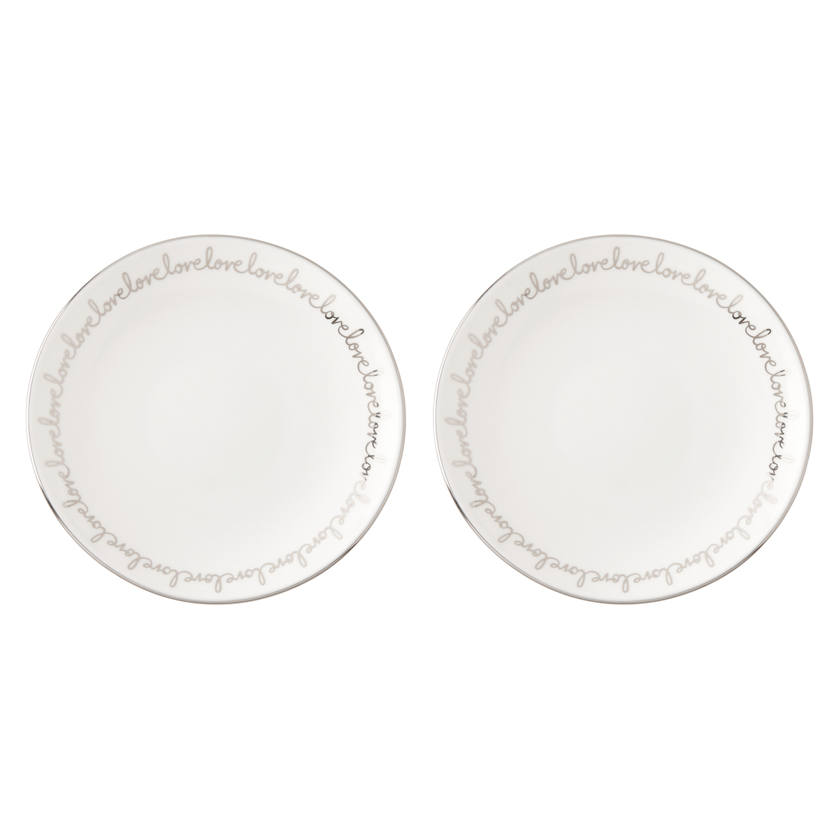 Kate Spade China by Lenox, Key Court Porcelain Love Tidbits, Set of 2