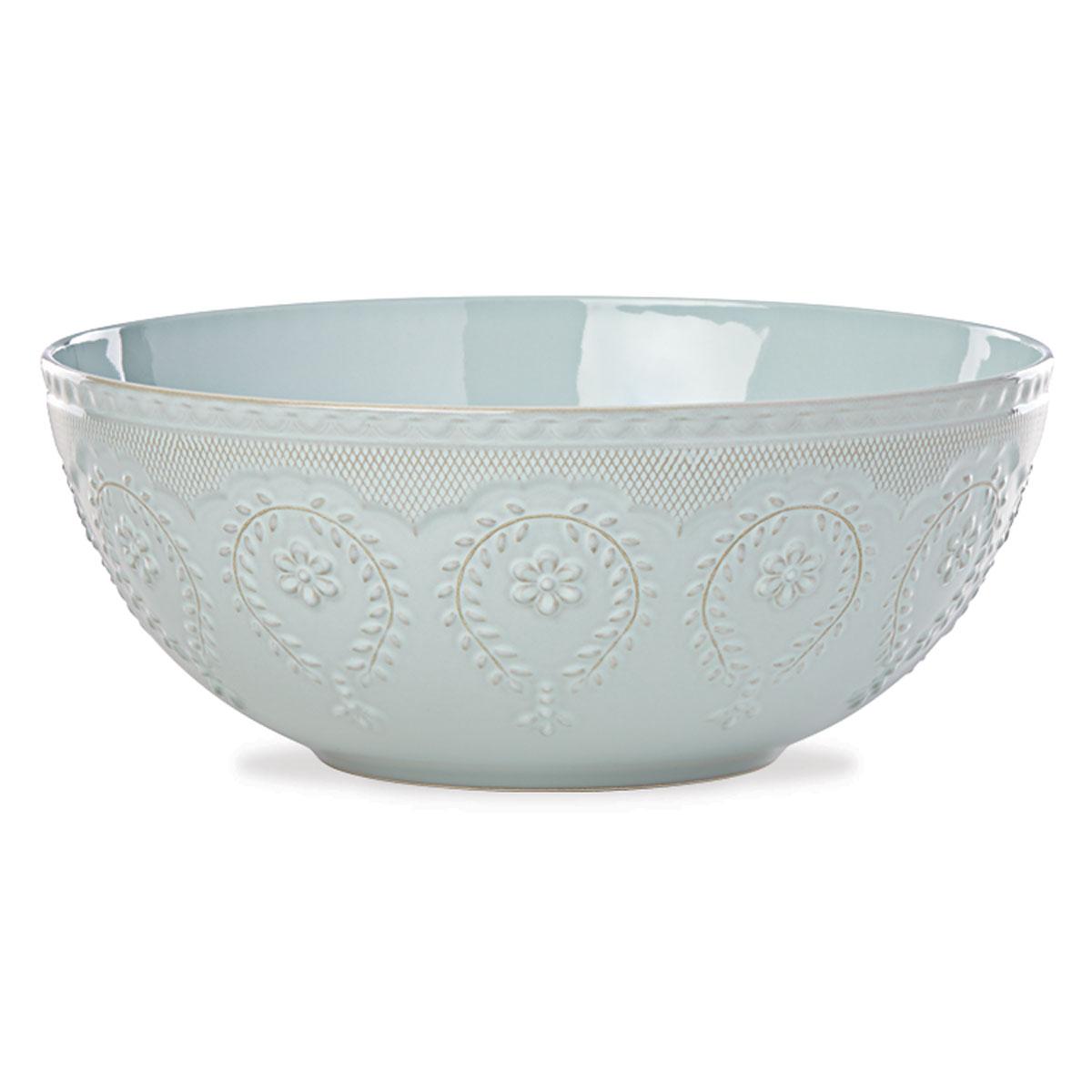 Lenox Chelse Muse Dinnerware Rct Blue Serving Bowl
