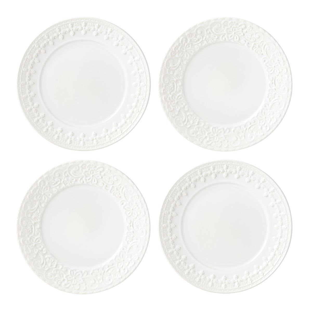 Lenox Chelse Muse Dinnerware Rct White Tidbits Set Of Four