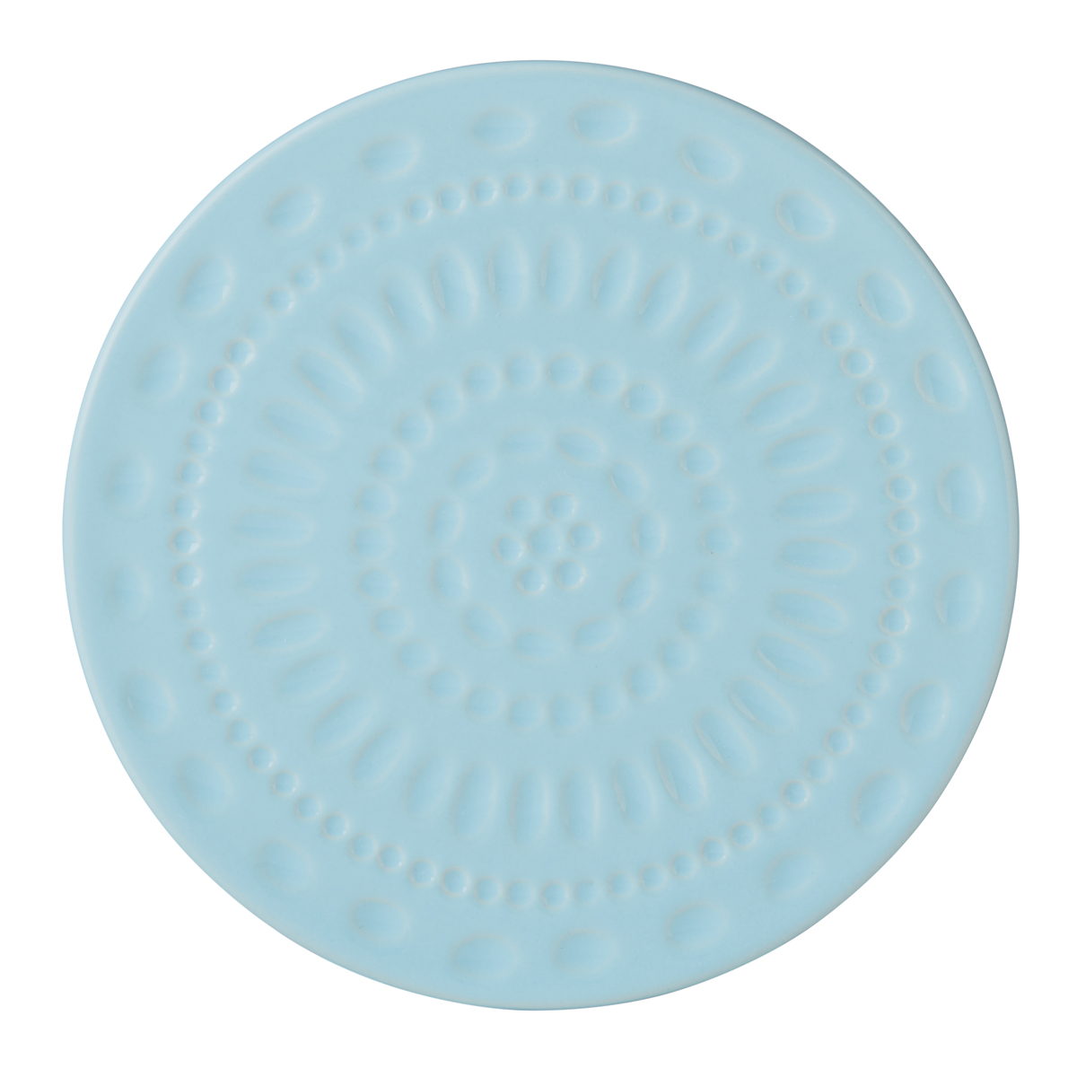Kate Spade China by Lenox, Stoneware Willow Drive Blue Trivet, Round