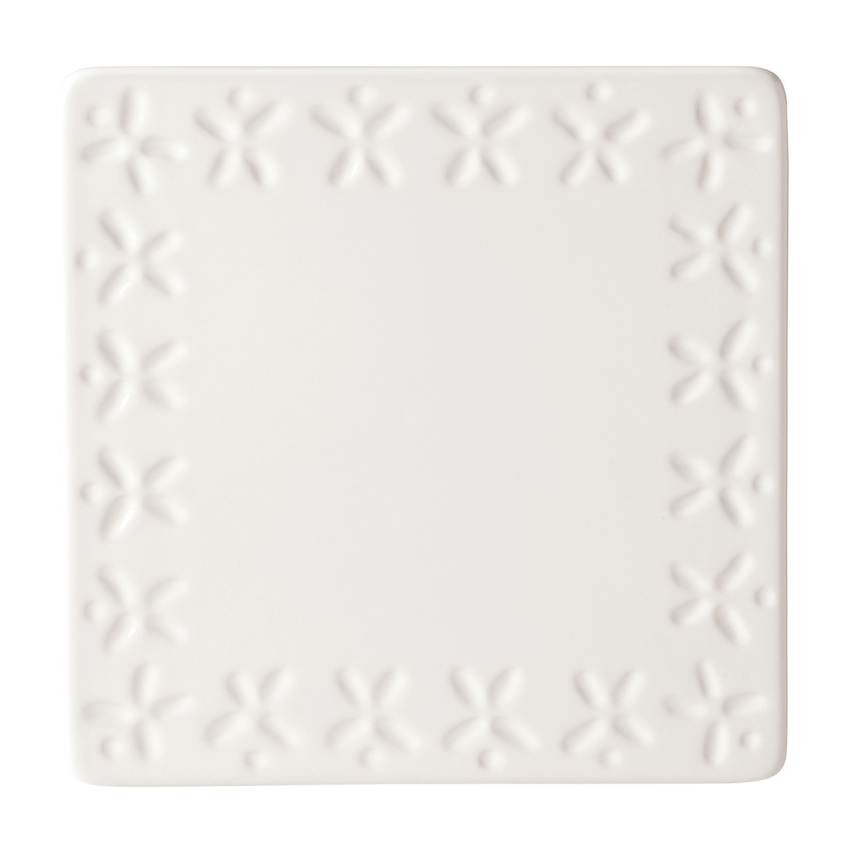 Kate Spade China by Lenox, Stoneware Willow Drive Cream Trivet, Square