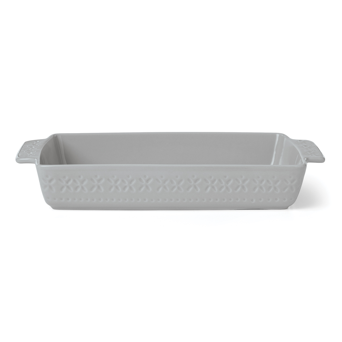 Kate Spade China by Lenox, Stoneware Willow Drive Grey Rectangular Baker