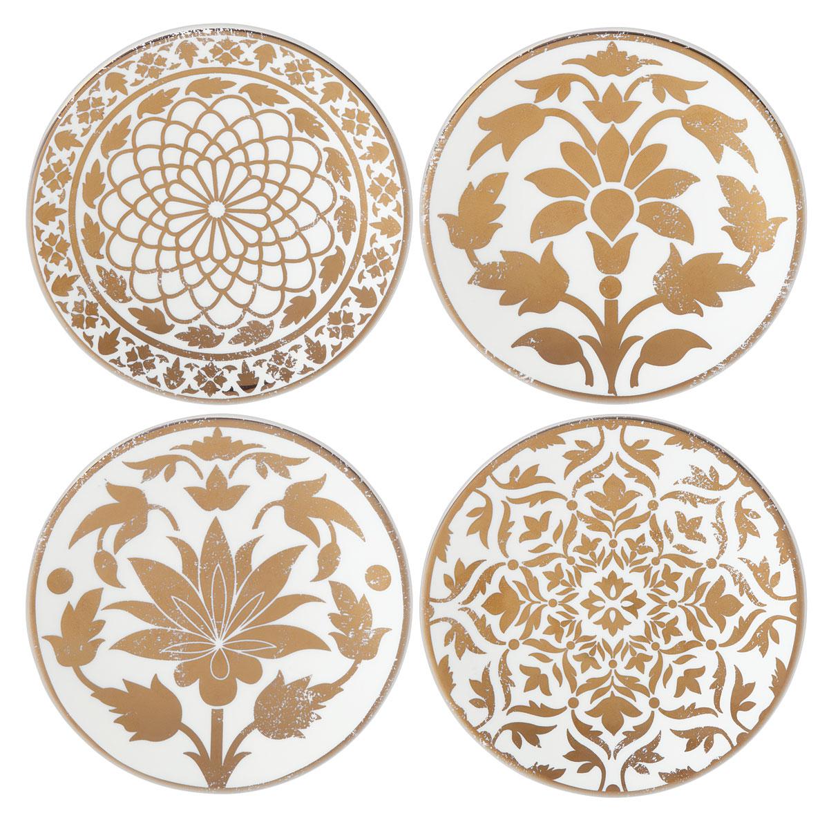 Lenox Global Tapestry Gold Dinnerware Tidbit Place Setting Of Four