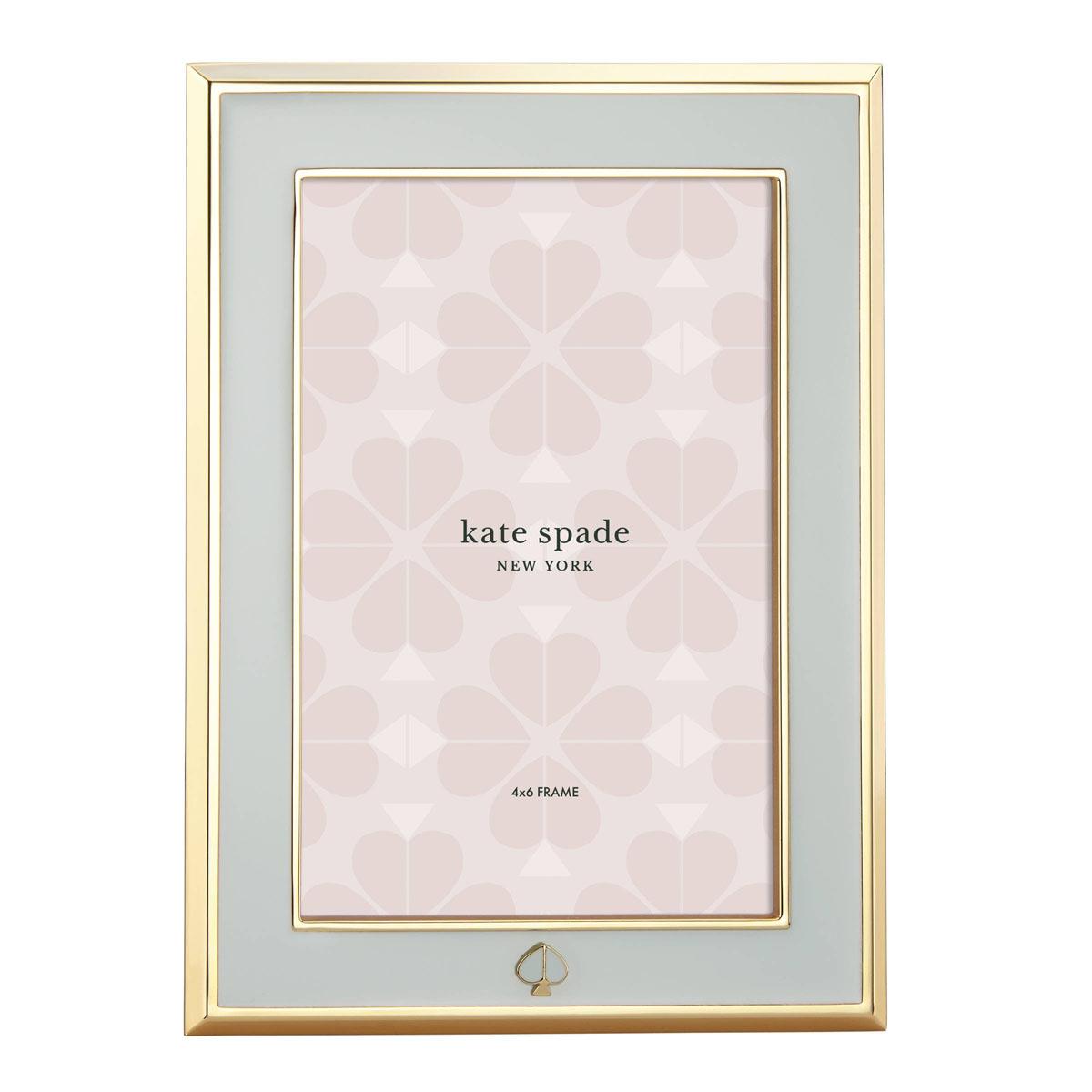 "kate spade new york Lenox Spade Street Gold 4""x6"" Frame, Aqua"