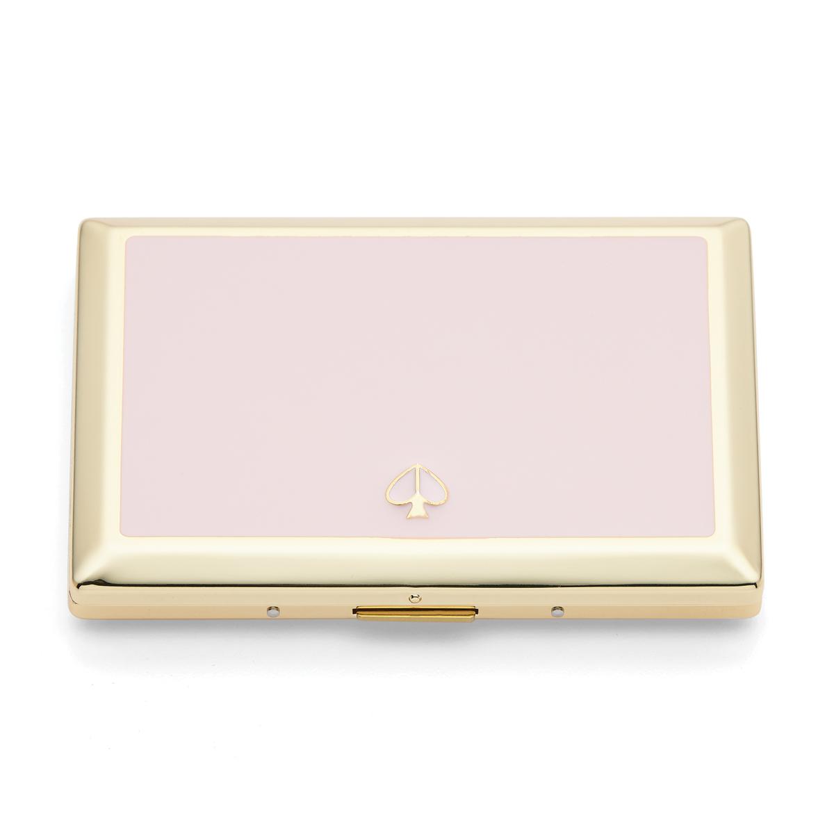 Kate Spade New York, Lenox Spade Street Gold Business Card Holder, Blush