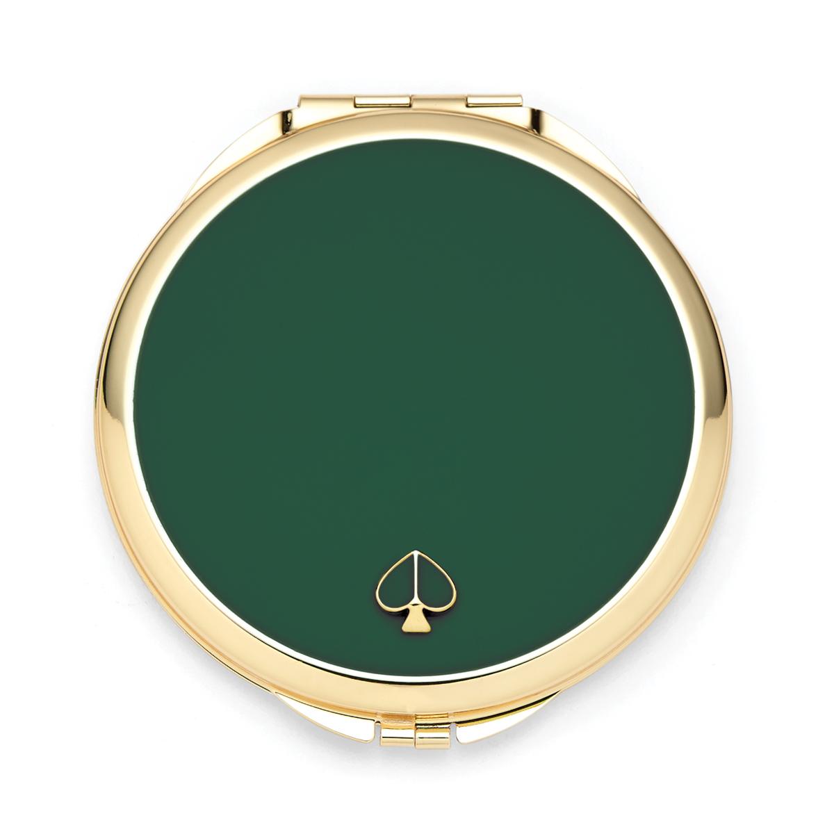 Kate Spade New York, Lenox Spade Street Gold Compact, Green