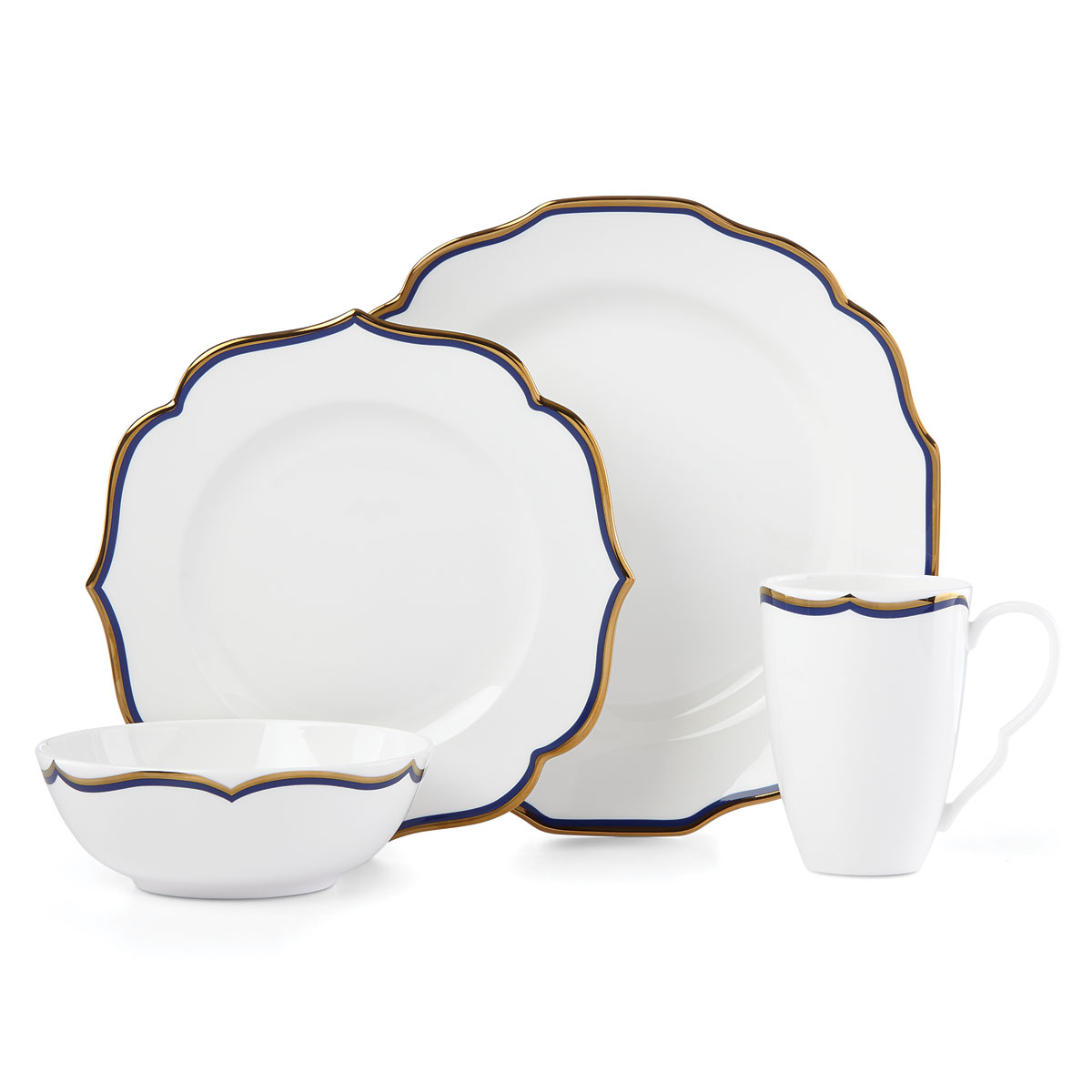 Lenox Contempo Luxe Sapphire Dinnerware 4 Piece Place Setting