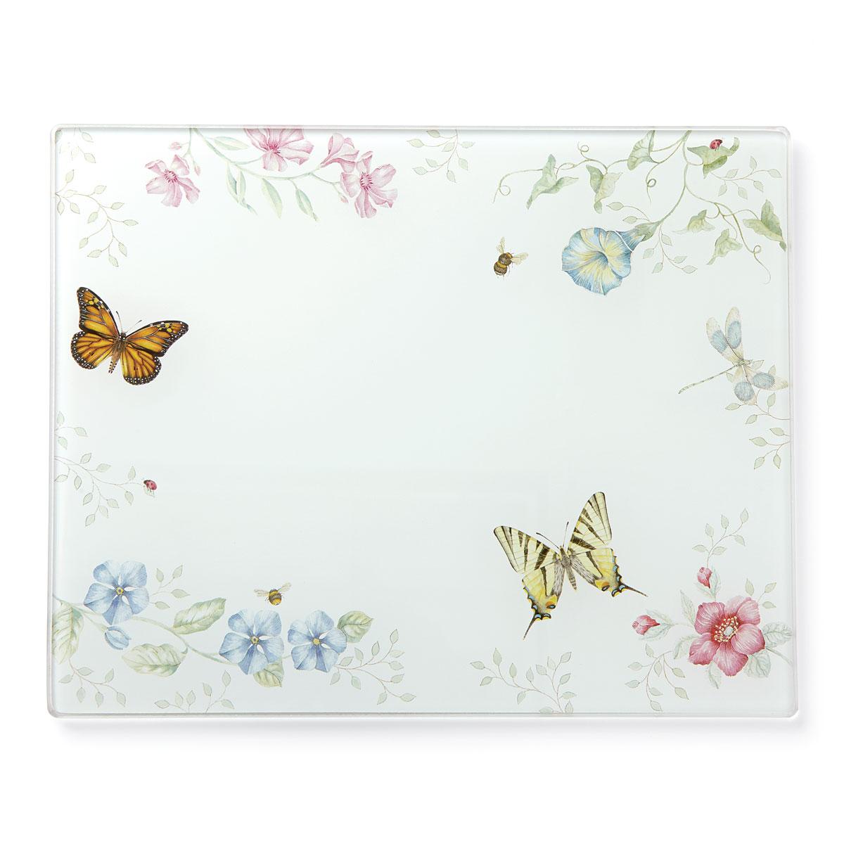 Lenox Butterfly Meadow Dinnerware Glass Prep Board Lg