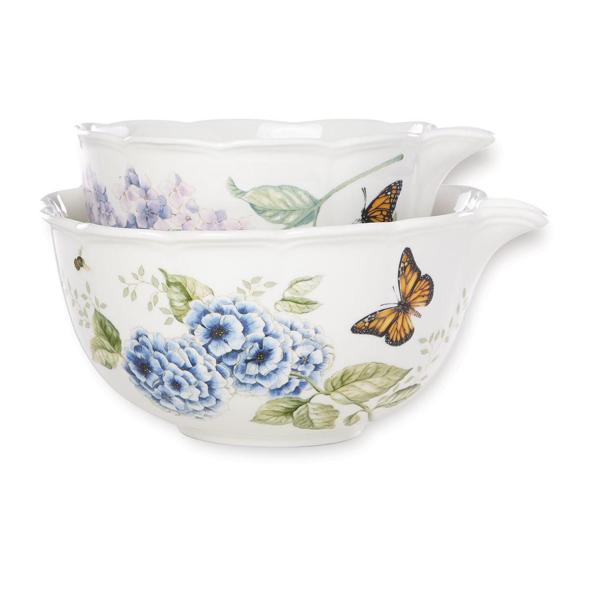Lenox Butterfly Meadow Dinnerware Nest Mix Bowl Pair