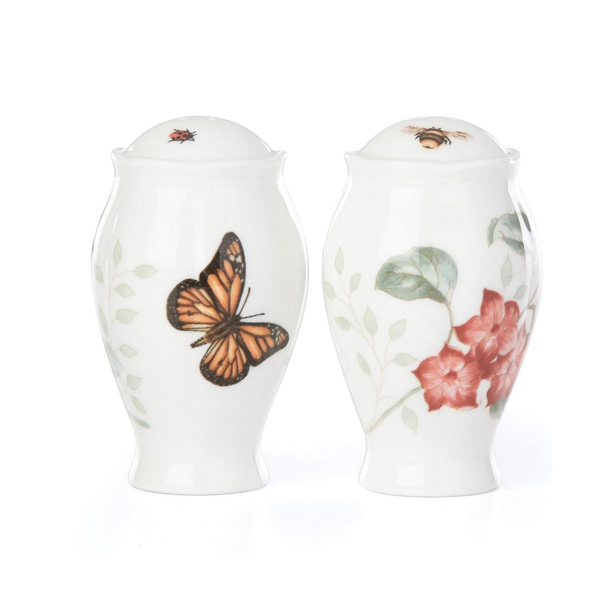 Lenox Butterfly Meadow Dinnerware Salt And Pepper Shakers