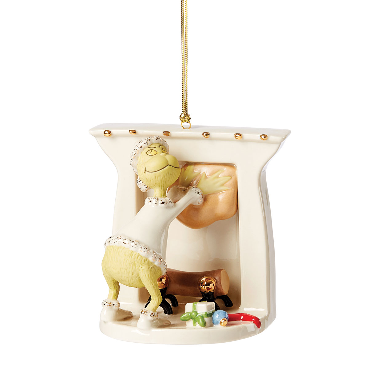 Lenox 2021 Gift-Stealing Grinch Ornament