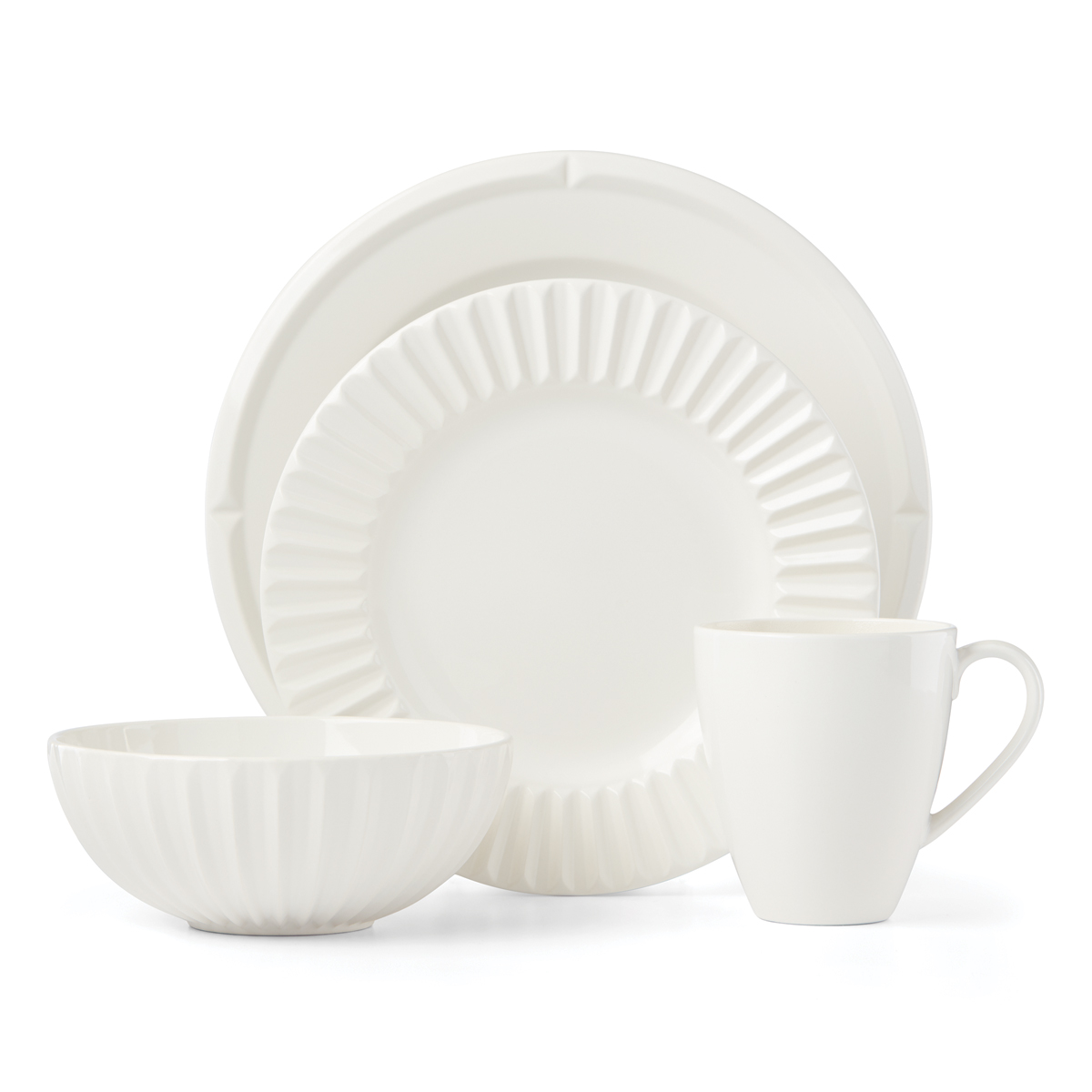 Kate Spade China by Lenox, Tribeca Cream 4 Piece Plate Set
