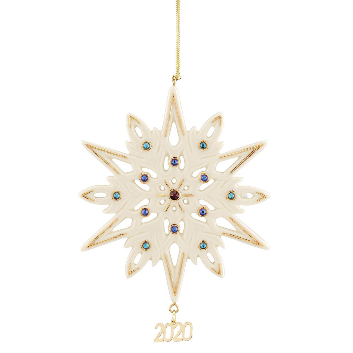 Lenox Gemmed 2020 Snowflake Ornament