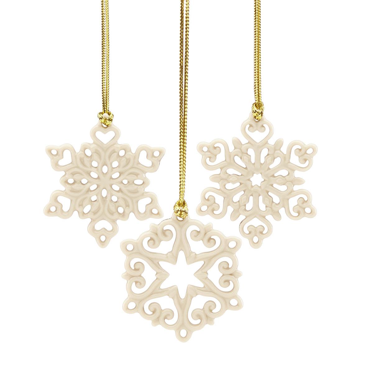 Lenox 2021 Pierced Snowflake Set of 3