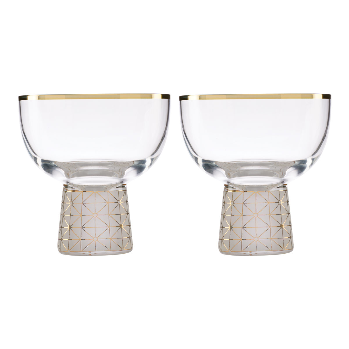 Lenox Trianna Frost Cocktail Glass Pair