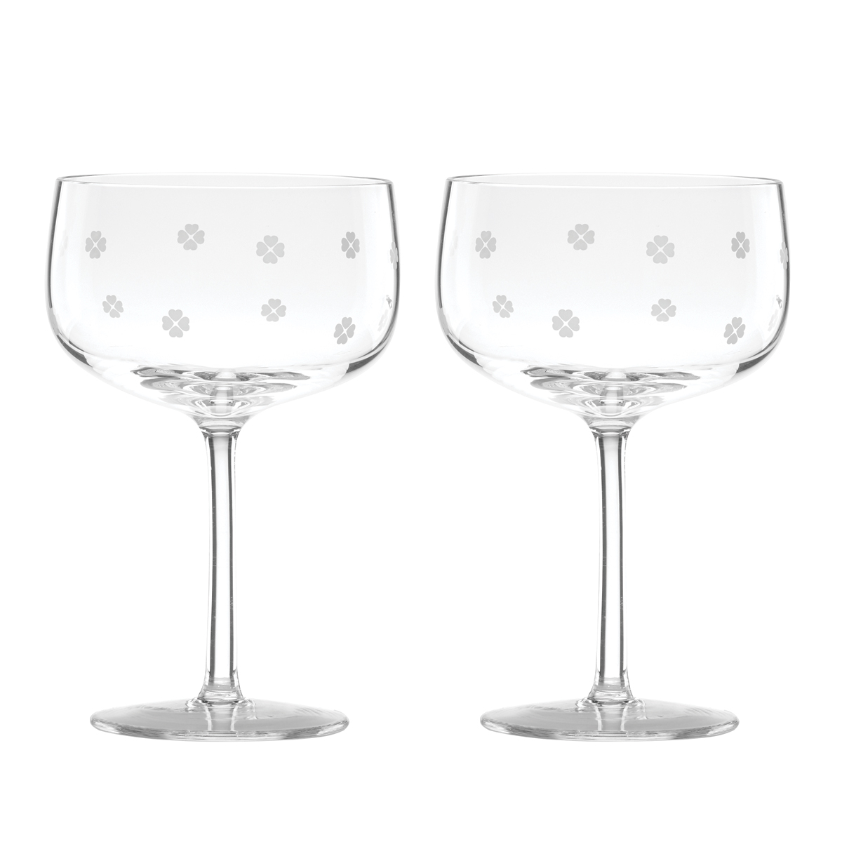 Kate Spade New York, Lenox Spade Clover Coupe Glass Pair