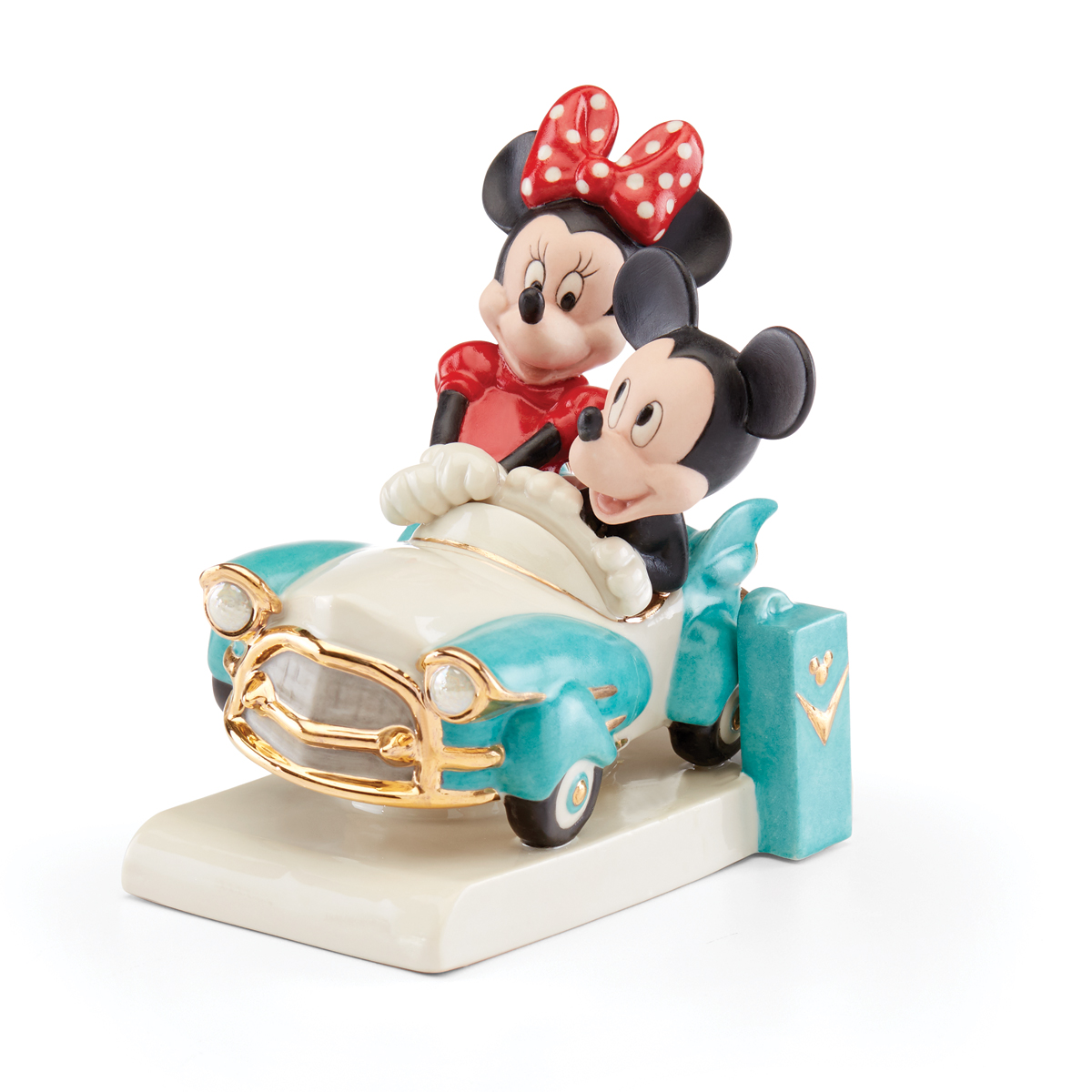 Lenox Mickey And Minnies Vintage Ride Figurine