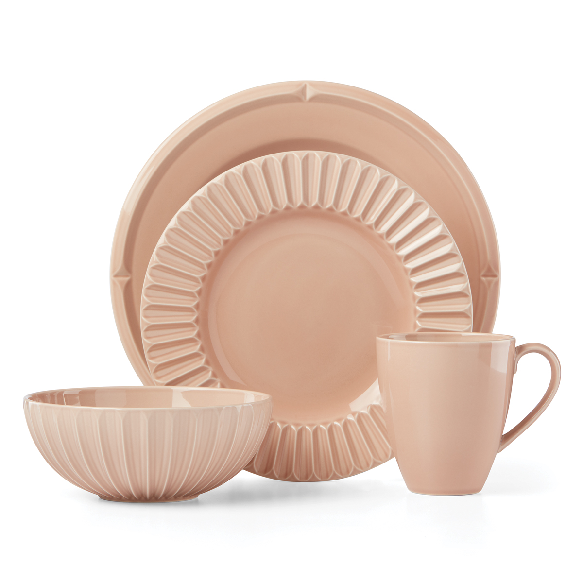 Kate Spade China by Lenox, Tribeca Rose 4 Piece Plate Set