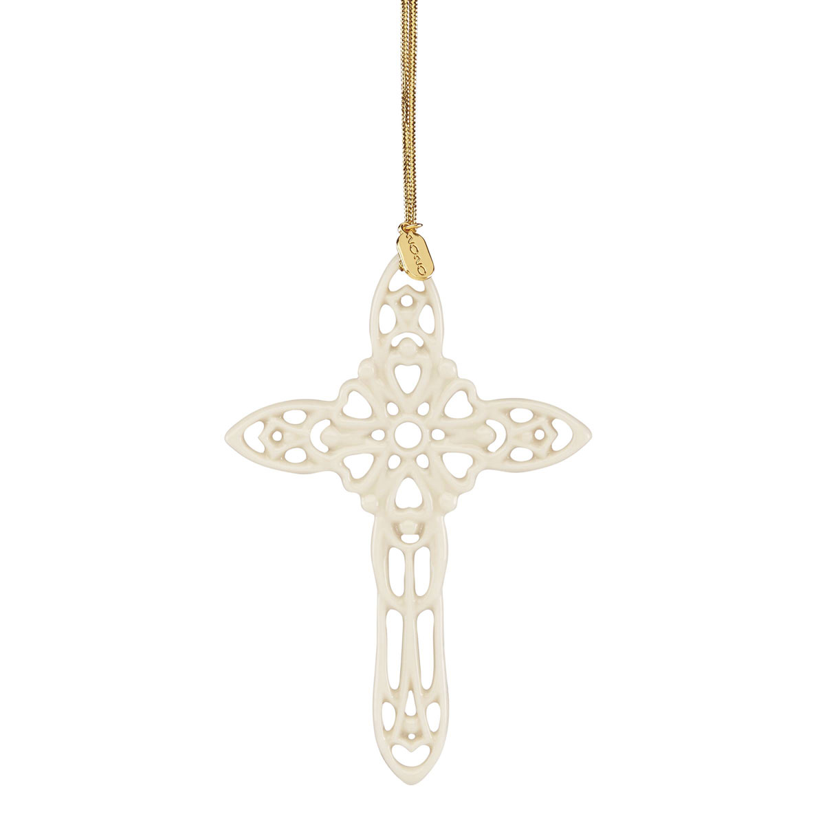 Lenox Snow Fantasies 2020 Cross Ornament