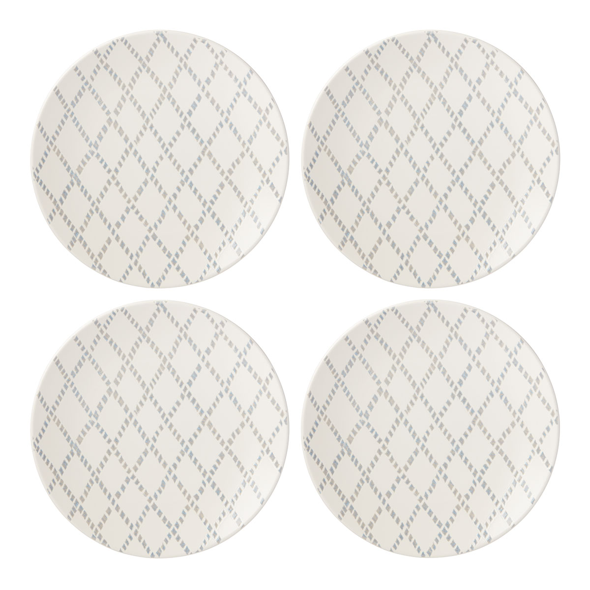 Lenox Textured Neutrals Dinnerware Gray Dinner Place Setting Of Four