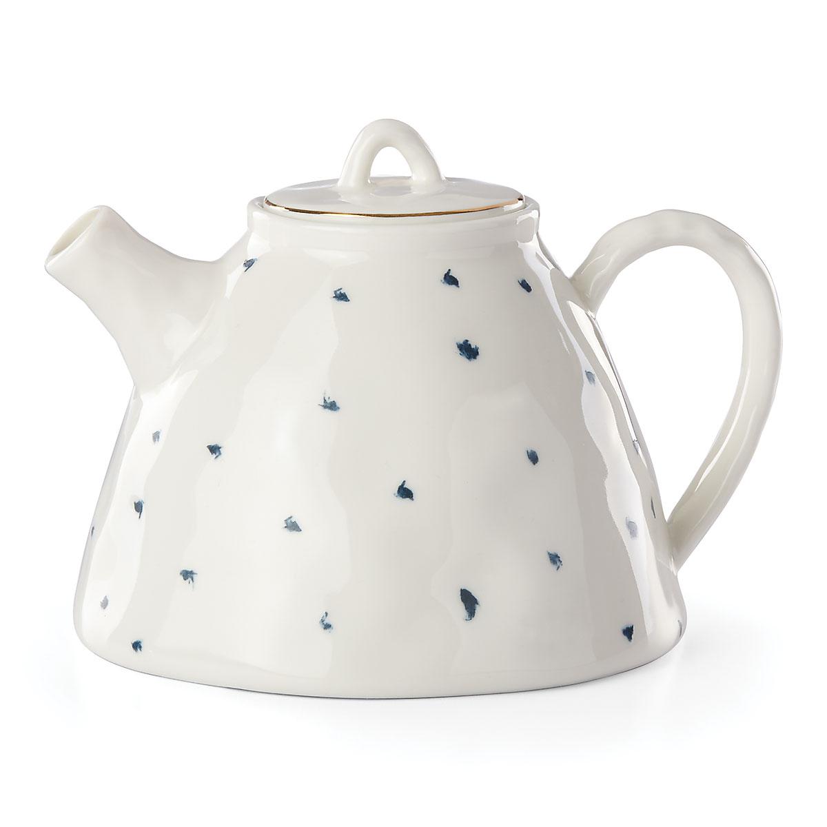 Lenox Blue Bay Dot Dinnerware Teapot