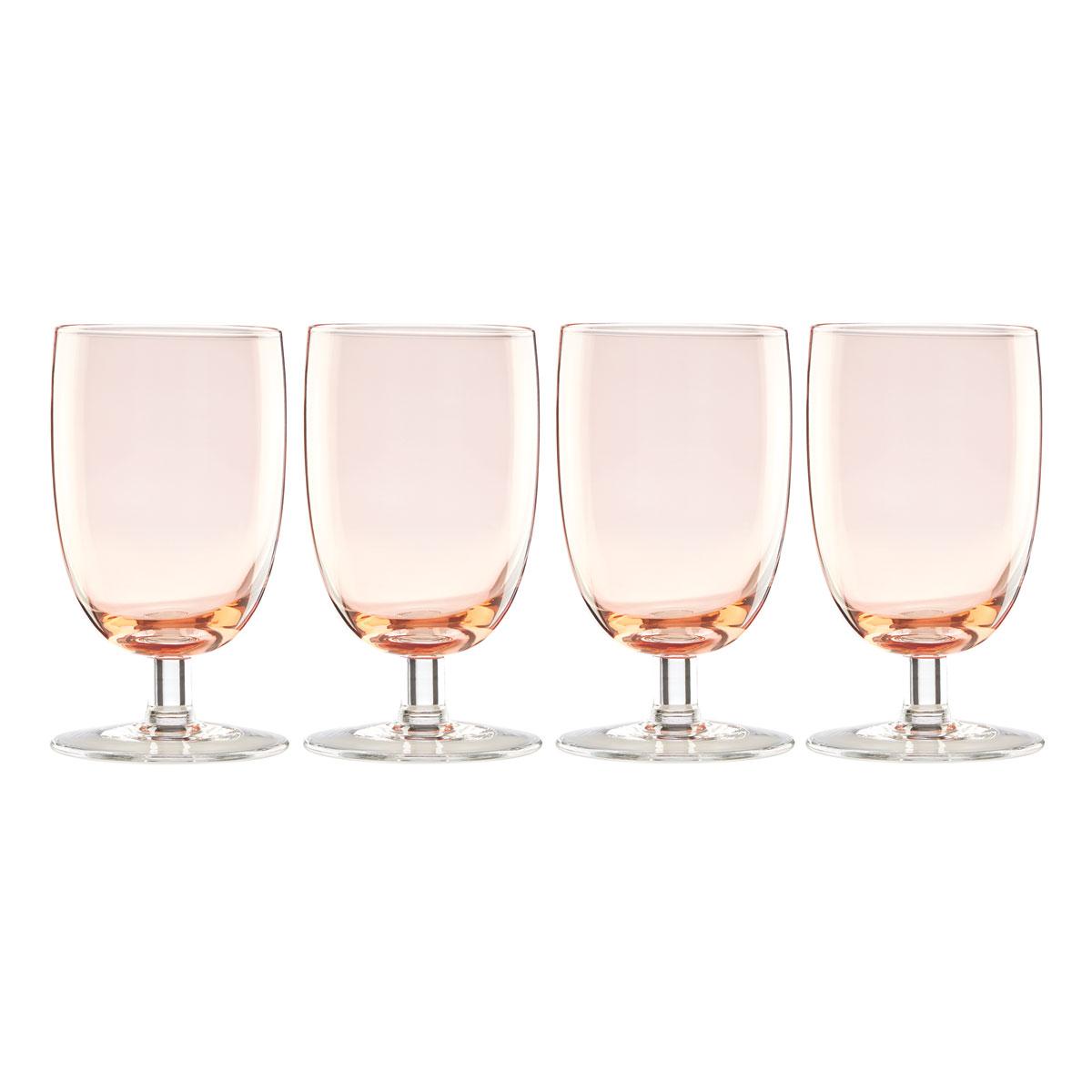 Lenox Valencia Peach All Purpose Glass Set Of Four