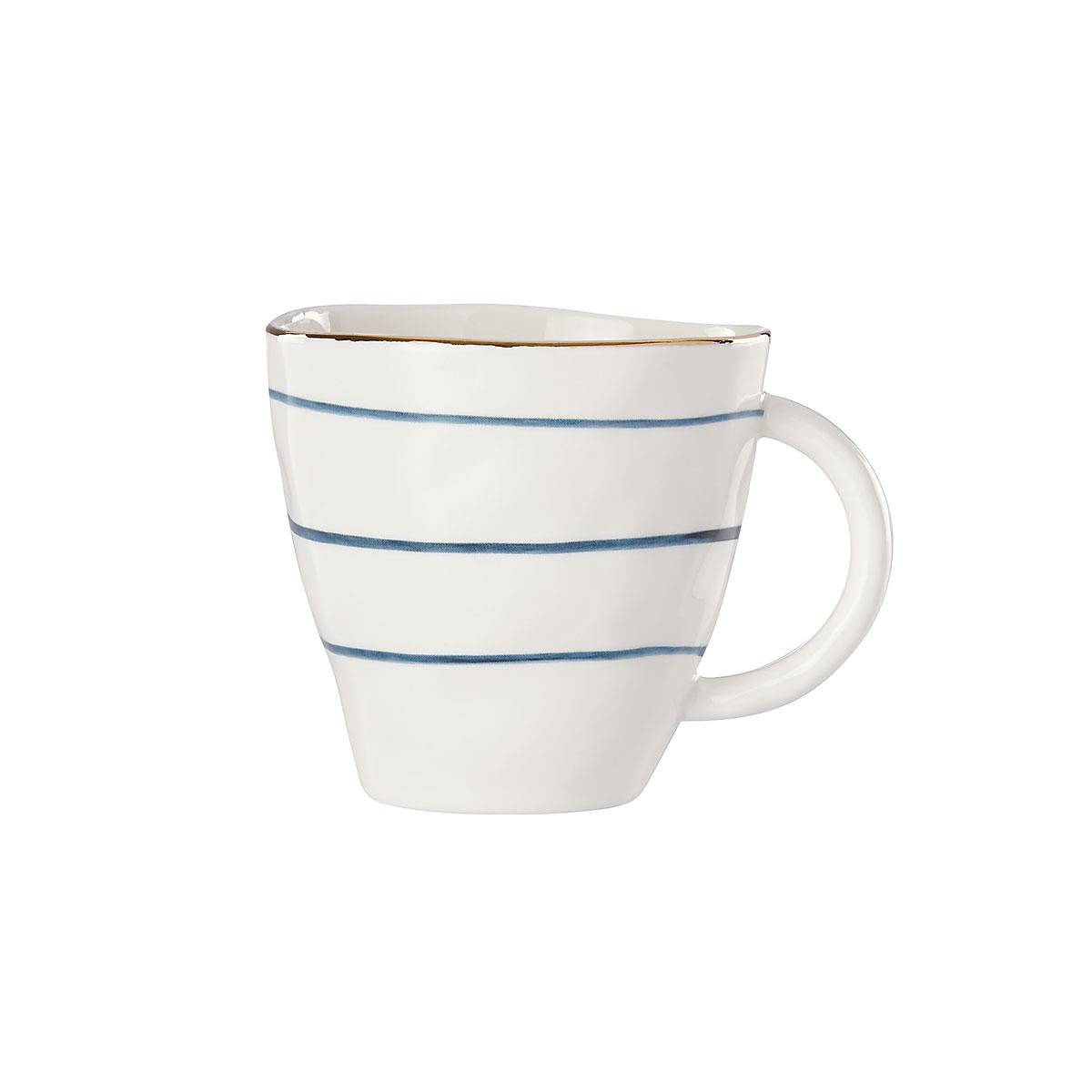 Lenox Blue Bay Stripe Dinnerware Dessert Mug