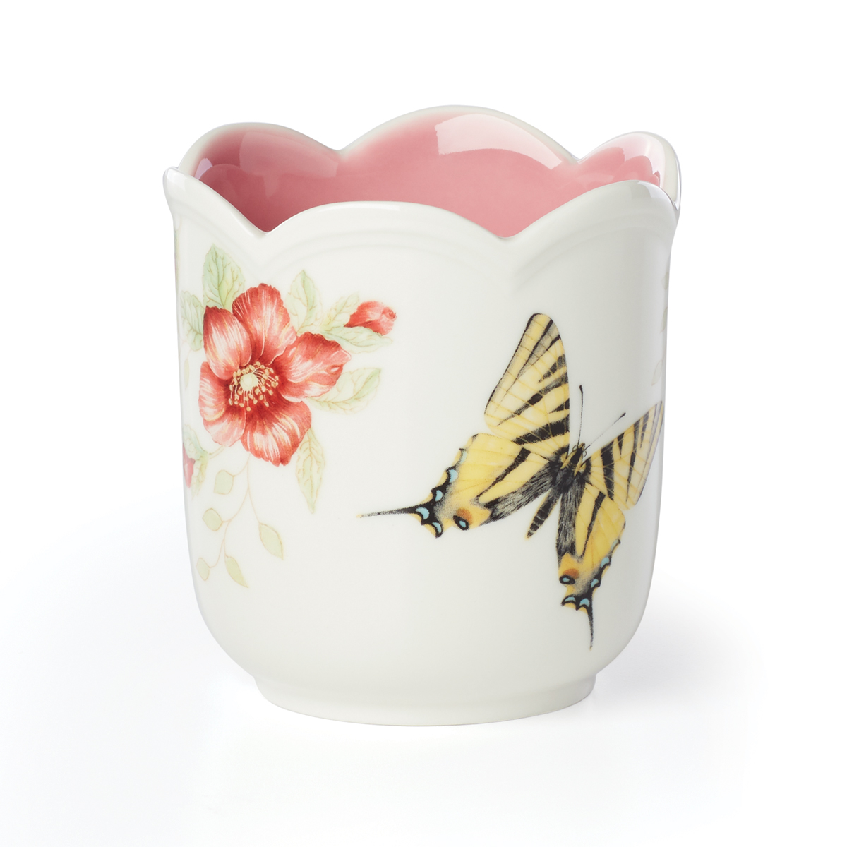 Lenox Butterfly Meadow Filled Candle Pink