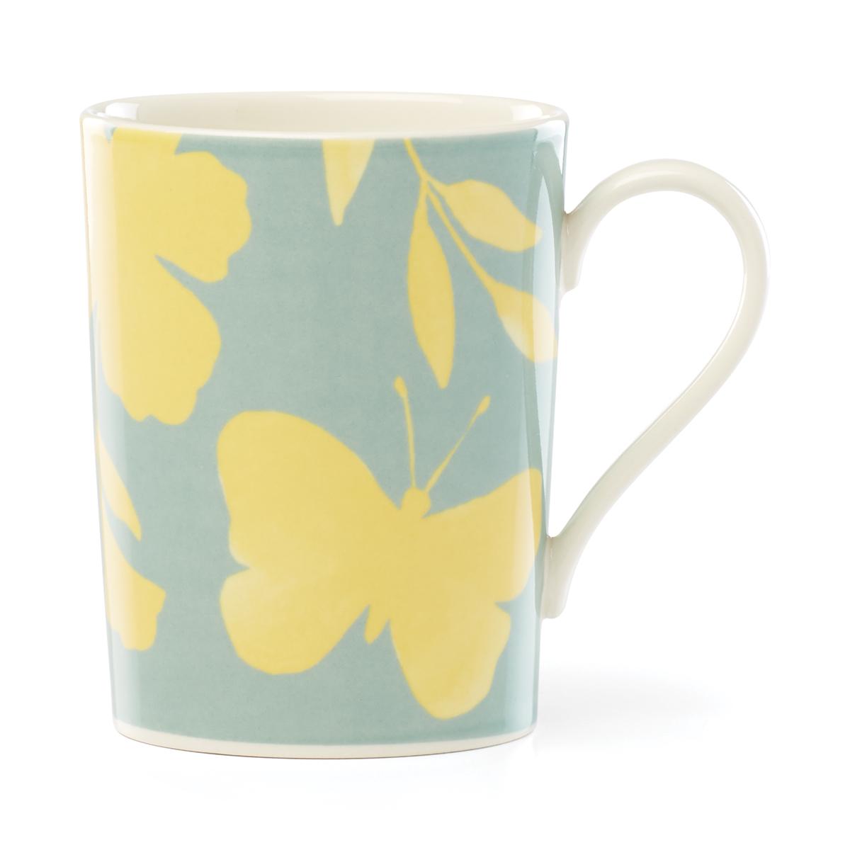 Kate Spade China by Lenox, Petal Ln Floral Mug Yellow Flower