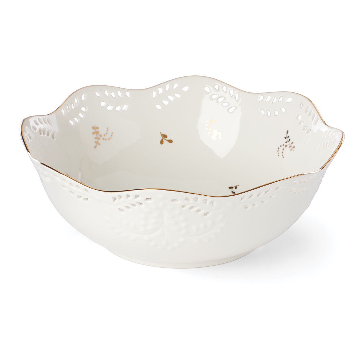 Lenox Opal Innocence Flourish Dinnerware Large Serving Bowl