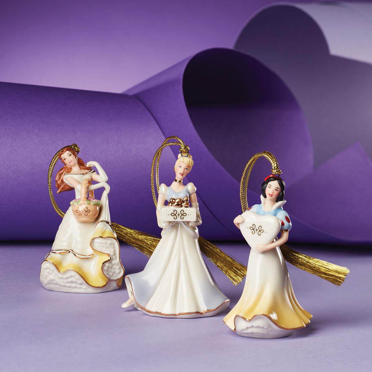 Lenox 2021 Disney Princess Mini Ornament Set of 3