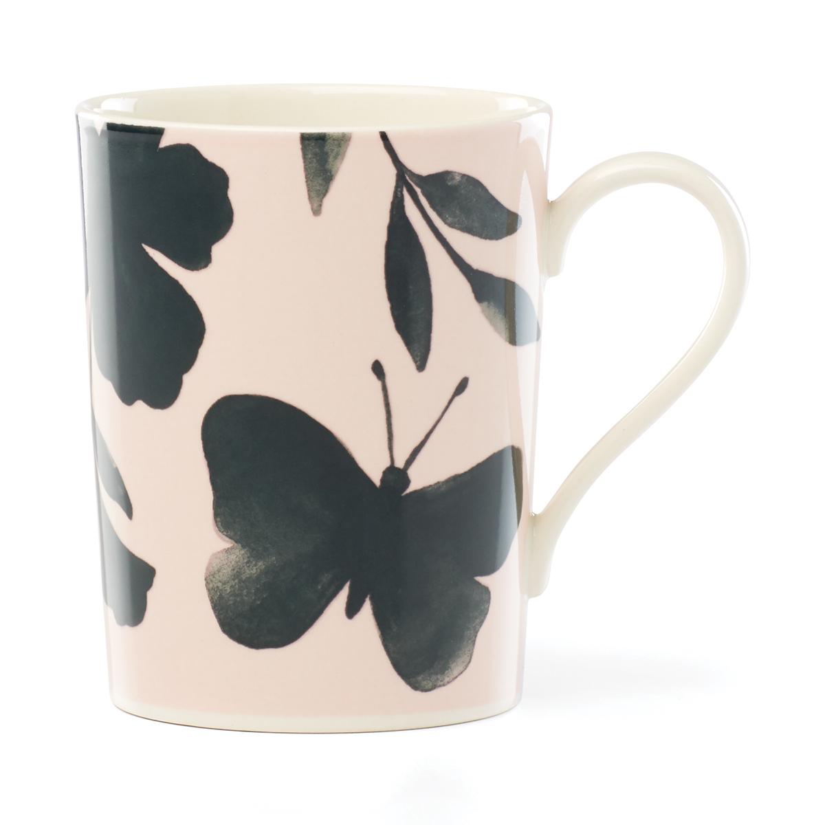 Kate Spade China by Lenox, Petal Ln Floral Mug Green Flower