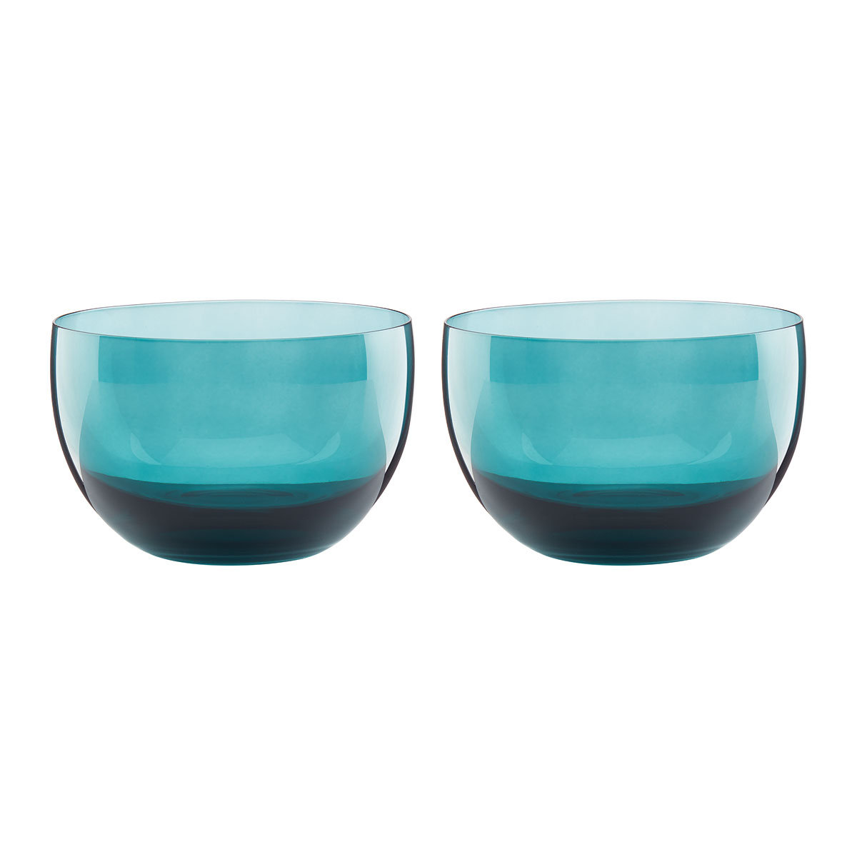 Lenox Sprig And Vine Dinnerware Glass Dip Bowl Turquoise Pair