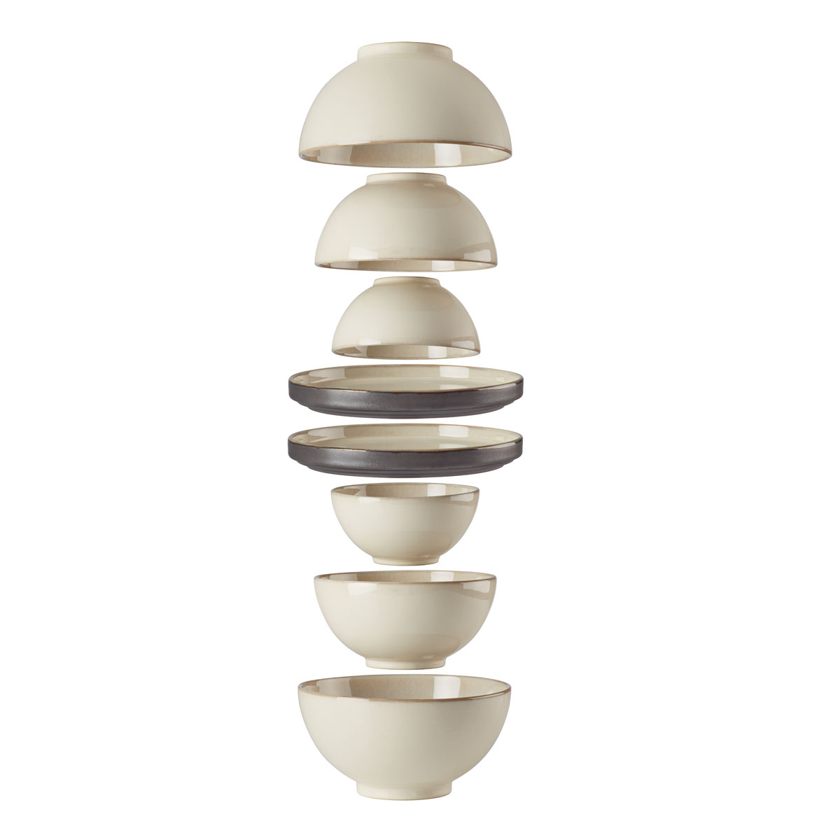 Lenox Luna Dinnerware Nesting 8Pc Set White