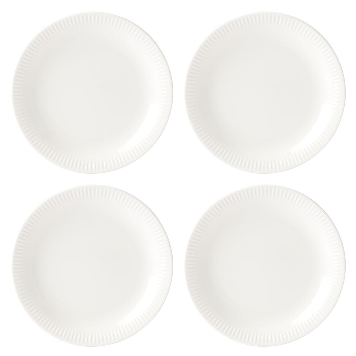 Lenox Profile Dinnerware Accent Plate White Set Of Four
