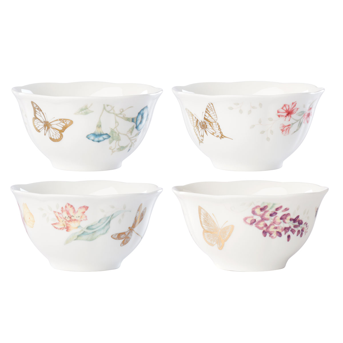 Lenox Butterly Meadow Gold Dinnerware Rice Bowl Gold Set Of Four