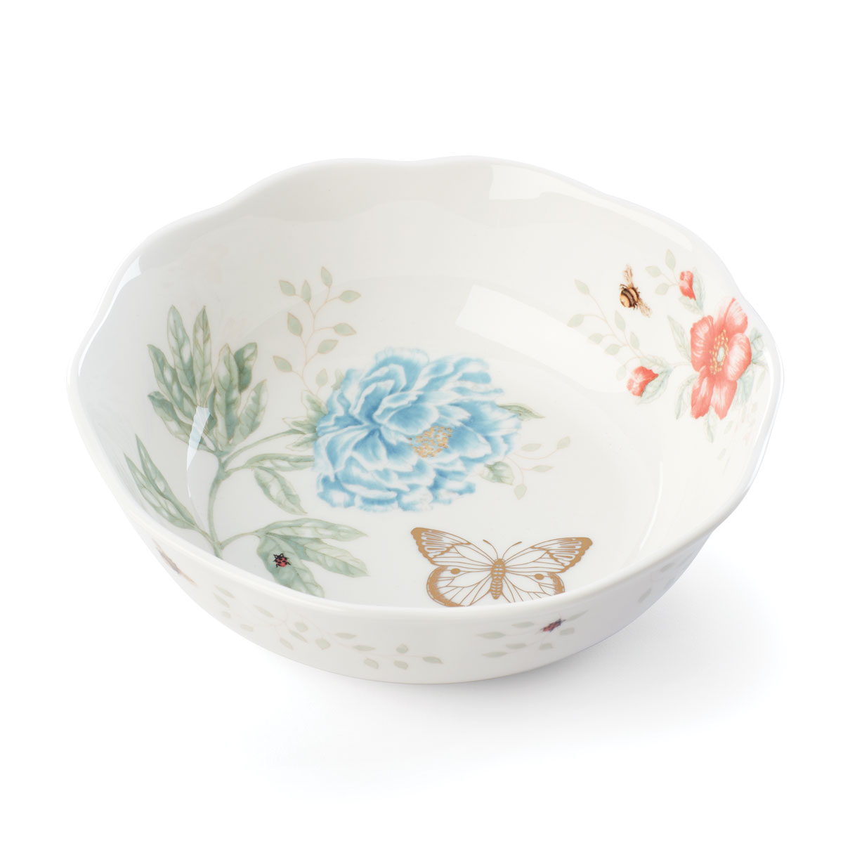 Lenox Butterly Meadow Gold Dinnerware Soup Bowl Gold 20th