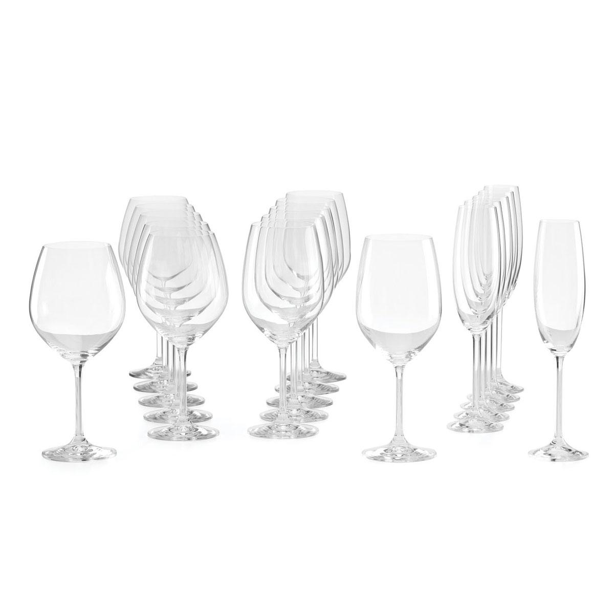Lenox Tuscany Classics Assorted Wine Glasses, Set Of 18